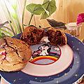 Muffins <b>framboise</b> thé matcha