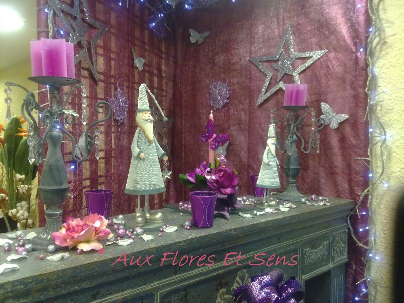 Décor cheminée Noël