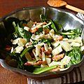 Salade d'épinard et fenouil à l'orange et au parmesan