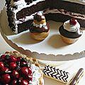 Charlotte aux cerises, Forêt noire et petits gâteaux