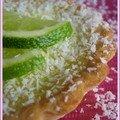 Tartelette citron vert et noix de coco