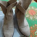 Boots wanted salome en peau beige t40