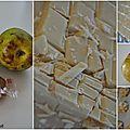 Compote de poires et de bananes et ses cookies spéculoos-chocolat blanc