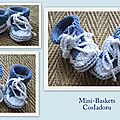 Mini-baskets au tricot