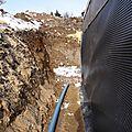 Installation du drainage périphérique
