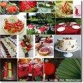 <b>Carnet</b> <b>d</b>'<b>inspiration</b> pour une table de fête rouge et verte