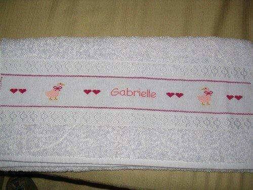 Serviette pour Gabrielle