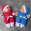 Combinaisons pour mini-bébés...tentation de pipiou...