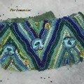 bracele brodé bleu