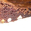 Glace aux brownies