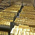 Commercio di polvere d'oro e lingotti grezzi