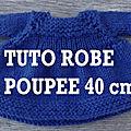 <b>TUTO</b> ROBE POUR POUPEE NANCY 40 cm aux aiguilles circulaires