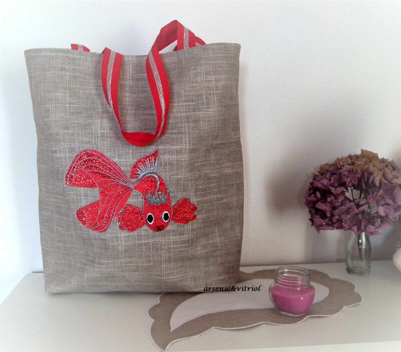 totebag poisson rouge