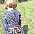 Robe taille basse des nipe bleu blanc orange