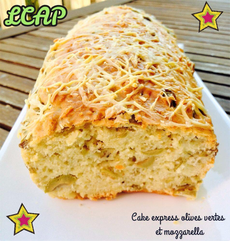 Cake express aux olives vertes et mozzarella