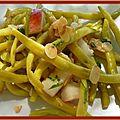 Salade de haricots beurre aux amandes et nectarines