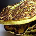 Pancakes ricotta et légumes