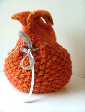 sac boule en laine