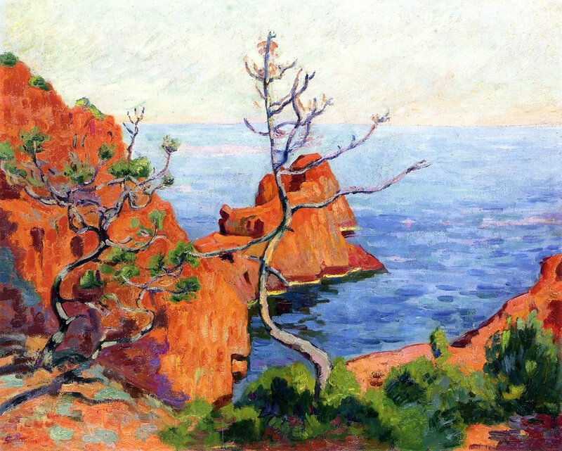 Guillaumin Armand JB Rocks at Trayas, 1915