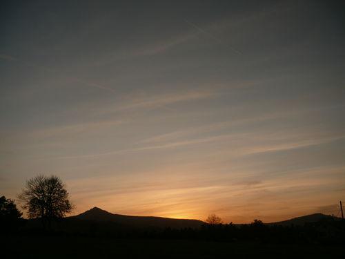 2008 10 15 Aprés le coucher du soleil en direction du Lizieux