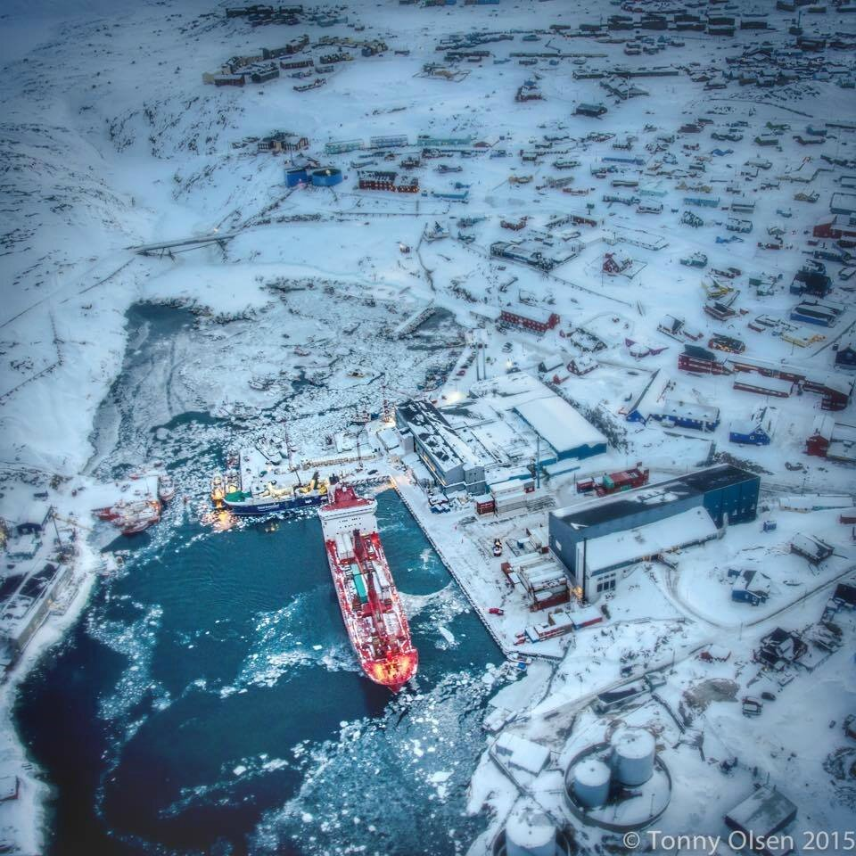 Royal Arctic Line ready for sailing from Ilulissat, Greenland