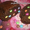 Cake au chocolat & aux smarties