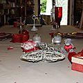 Table et menu d'amoureux pour la saint valentin