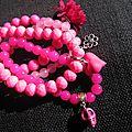 Lot de <b>bracelets</b> (tons <b>roses</b>)