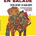 Les arts en balade, 19-20 et 21 mai 2017, clermont-ferrand