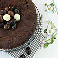 Le fondant au chocolat (et aux lentilles) de pâques
