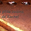 Entremet arlequin: chocolat crème brûlée vanille