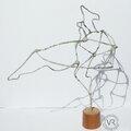Nouveau type de sculptures, en fil recouvert de <b>papier</b> <b>journal</b>