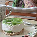 Cheesecake aux kiwis sans cuisson à tomber!!!!