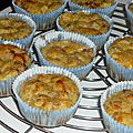 Muffins au pâté hénaff, pomme et cidre