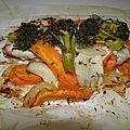 Plat : papillote poulet, légumes d''hiver et graines de cumin