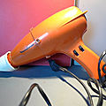 Un sèche-cheveux vintage Moulinex ! Orange et <b>seventies</b> !