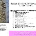 Montocchio Joseph Edouard aeu 17 enfants