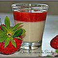 Panna cotta au philadelphia et son coulis de fraises