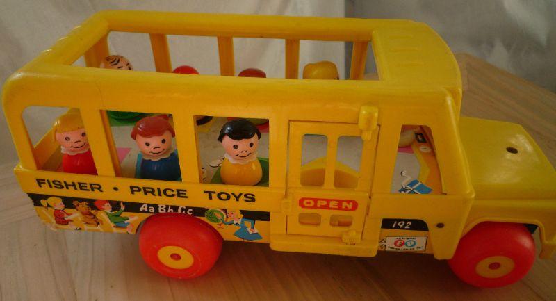 Vintage Fischer Price School bus
