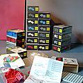 Lego, des boîtes basiques un peu particulières (set 518 à 521)... Toute une série créée pour l'architecture en 1962... !