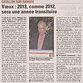01 Voeux du Maire 04 01 2013 VdN du 11 01 2013