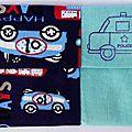 Des voitures ... une voiture de police ... un étui à mouchoirs pour <b>garçon</b> !