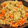 Risotto petits pois et carottes