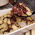 Un <b>gratin</b> pomme de terre-champignon qui donne la patate
