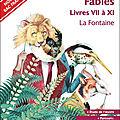 <b>Fables</b> livres VII VIII IX X et XI de Jean de La Fontaine