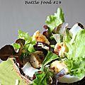 Poulet à la noix de coco en salade - sauce au vinaigre de mangue - battle food #19