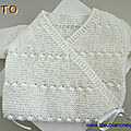 explications tricot bebe, brassiere croisee blanche, bb mixte