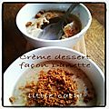 Creme dessert style danette - 3 pp/pers
