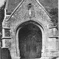 Le Breuil - l'église (porche du XVe siècle)