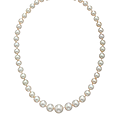 An important single strand natural <b>pearl</b> <b>necklace</b>